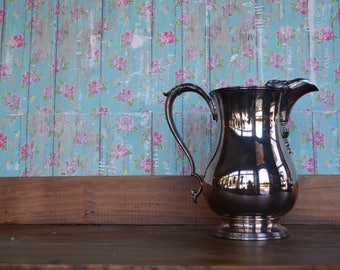 Vintage Silver Pitcher * Ornate * Tarnished * International Silver Co *