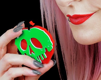 Poison Apple Compact Mirror - Laser Cut Acrylic Pocket Mirror