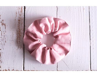 Scrunchies made organic cotton pink