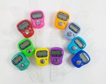 Digital Counter Finger Ring / Row Counter / Stitch Counter / Crochet or Knit / Digital Row Counter / Digital Tally Counter