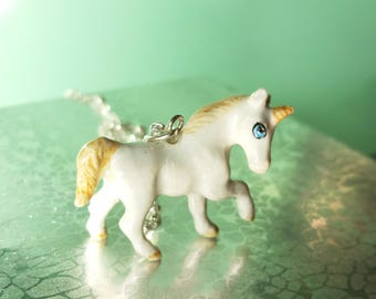 Unicorn Necklace - silver unicorn-miniature unicorn Pendant - Good luck Charm  ,Romantic  Pendant-Baby  unicorn pendant