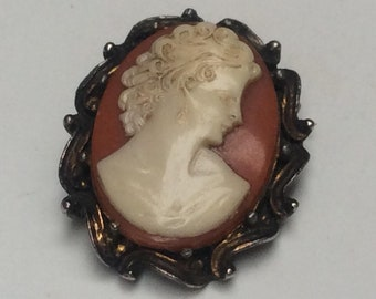 Pretty Classical Cameo Brooch made from a Resin / Composite Material