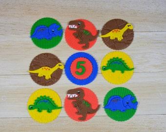 Dinosaur fondant toppers, dinosaur cupcakes, dinosaur party