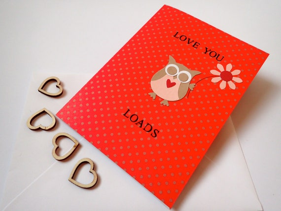 Love you card handmade love you card handmade greeting love you card handmade love you card handmade greeting cards owl card girlfriend boyfriend wife husband valentines card m4hsunfo