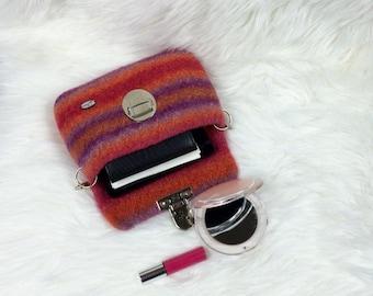 Hip bag, waist bag, fanny pack, belt bag, travel wallet, felted bag