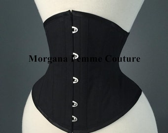 21 inch Ready to ship Black cotton waist training tightlacing cincher