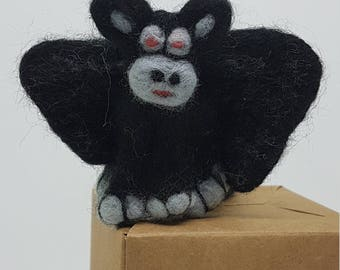Gargoyle, Needle felted, Handmade, Soft sculpture
