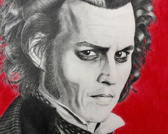 Johnny Depp Sweeney Todd Print 11x14