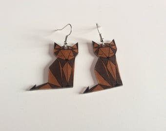 """Earrings made of shrink plastic""""little Fox."""""""