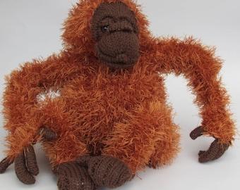 Orangutan Soft Toy Knitting Pattern