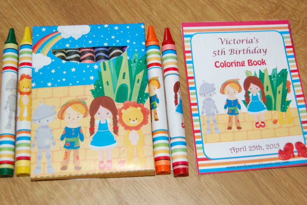 DIY Wizard / Dorothy inspired crayon box template