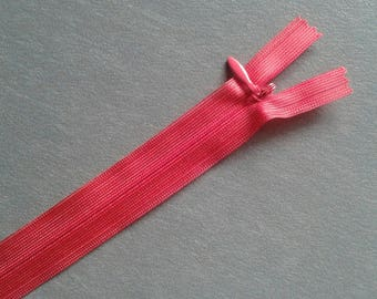 Set of 2 20 cm red invisible zippers