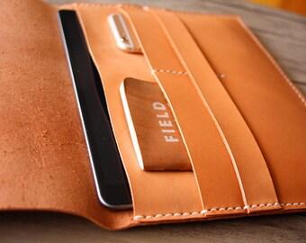 "MacBook Air 13"" Case, Personalized Leather Laptop Sleeve Portfolio, Handmade Macbook Pro 13"" Covers"
