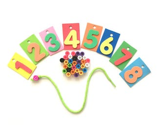 Montessori Math Activities for Preschoolers, Preschool Busy Bag, Preschool Learning, Math Manipulatives for Preschoolers, Math Games