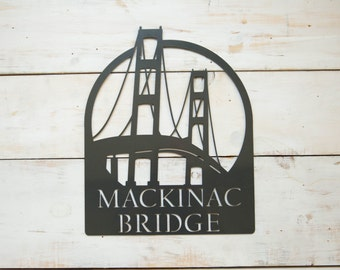 Mackinac Bridge Steel Wall Decor Pre-Order (3-4 weeks shipping)