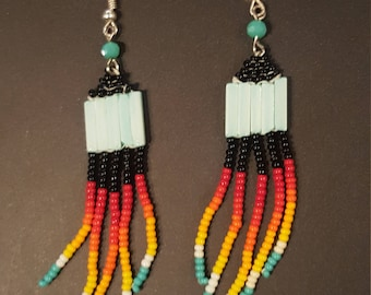 Into the Sunset Beaded Earrings