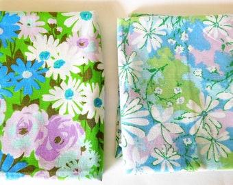 Vintage Floral Kissenbezüge Oma Chic türkis Blumen