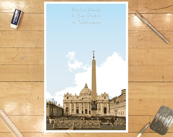 St. Peter's Basilica - The Vatican Poster