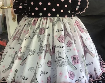 Paris theme twirl dress