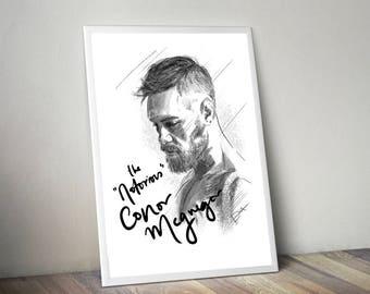 Conor McGregor Gliceé Art/Canvas Print [Limited Edition]