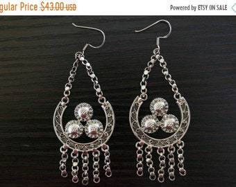 ON SALE Gorgeous SILVER Earrings