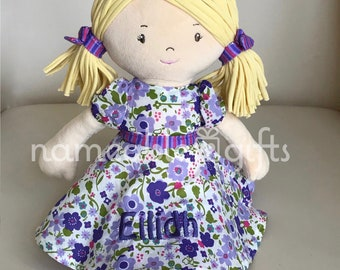 Personalized baby gifts etsy personalized dolls personalized baby gift birthday girl gift soft dolls newbaby girl gifts baby girl gifts baby gifts negle Gallery