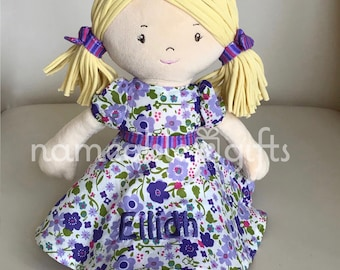 Personalized baby gifts etsy personalized dolls personalized baby gift birthday girl gift soft dolls newbaby girl gifts baby girl gifts baby gifts negle Image collections