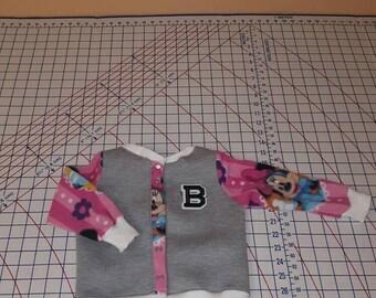 Kids custom Minnie varsity Jacket