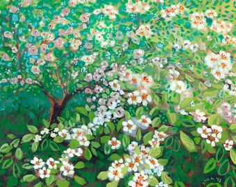 Cascading - Plein Air Fine Art Print by Jenlo