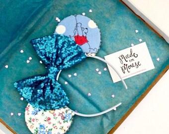 The Blustery Day - Handmade Mouse Ears Headband