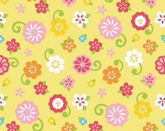 Riley Blake C3466 Simply Sweet Flower in Yellow  1 yard