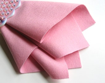 Baby Pink Felt, 100% Wool, Pure Merino Fiber, Choose Size, Square, Sheet, Pastel Pink, Waldorf Crafts, Felt Doll Fabric, Quilt Applique, DIY