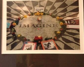 John Lennon Imagine Framed Photo