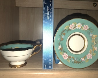 Beautiful Royal Stafford Garland cabinet teacup and saucer in blue, for the collector