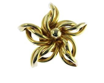 Gold Star Brooch, Gold Star Pin, Large Gold Brooch, Gold Sunburst Brooch