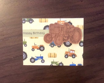 Birthday tractor card