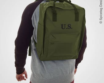 Spicetag U.S. Army City Daypack Urban Backpack WW2 US Army Urban Rucksack Military Trend Bag Retro Fashion Accessory SS17