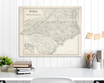 North carolina map Etsy