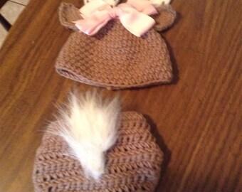 Newborn Deer hat and diaper cover