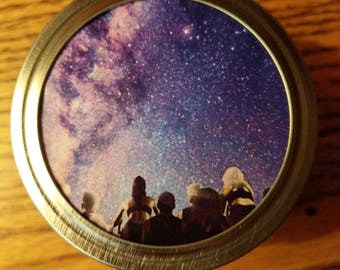 Galaxy Stash Jar Decorative Mason Jar