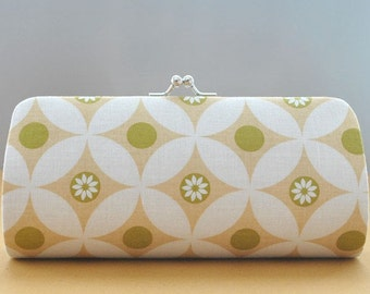 Butterfly Circles in Sand..Small Clutch Purse