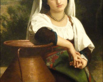 Poster, Many Sizes Available; Italian Woman At The Fountain, Adolphe William Bouguereau, 1869 Nelson Atkins Museum Of Art Dsc08967