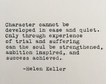 Helen keller quote etsy helen keller character quote typed on typewriter 4x6 white cardstock thecheapjerseys Image collections