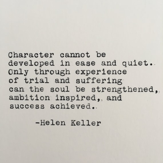 Helen keller character quote typed on typewriter 4x6 white thecheapjerseys Gallery
