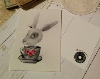 Karte, mailing-Kaninchen von Alice im Wunderland
