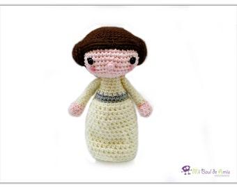 Crochet Princess Leia Doll - Brown Hair Doll - Star Wars doll -  MADE TO ORDER
