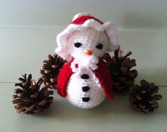 Miss Christmas Snow snowman crochet