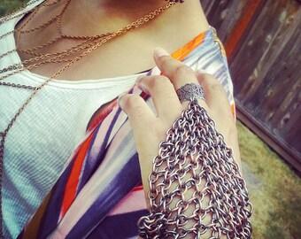 Chain Hand Bracelet Slave Bracelets Silver Hand Harnesses Finger Bracelet Anello Bracciale Schiava