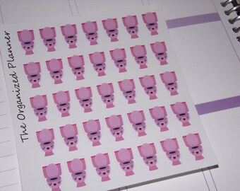 Toilet Stickers / Cleaning Stickers / Mini Stickers / Chore stickers for your Erin Condren Planner