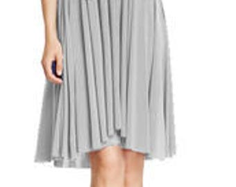Short bridesmaid dress with tube top Infinity dress in light gray color